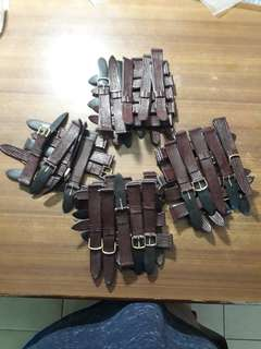 Brown watch strap16,18mm(54PC's) per PC's $1