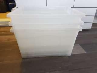 3 large storage boxes