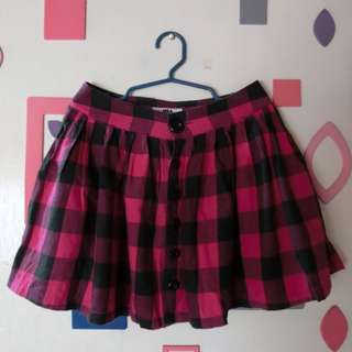 Checkered skater skirt