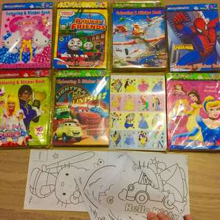 Children Goodie Bags stickers and Coloring books