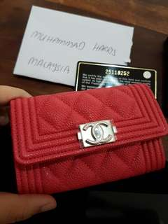 Chanel Boy Flap Cardholder
