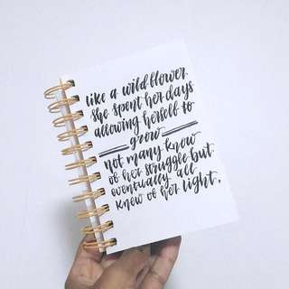 Customizable Quotes On Notebook Covers