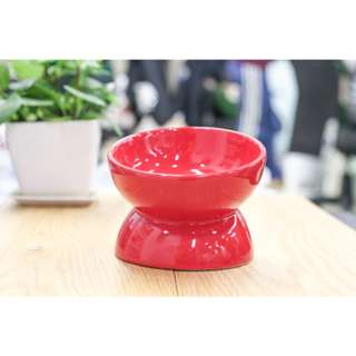 🚚 寵物陶瓷碗 毛孩不用低頭保護頸椎斜口陶瓷碗