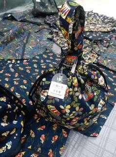 日本 收納袋 日本直送 日本製造 內裏有裡布、有放電話格…… 可放A4 size 拉埋拉鍊 可以放飯盒$129