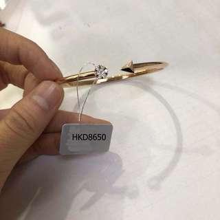 18K Solid gold  diamond Cupid bracelet