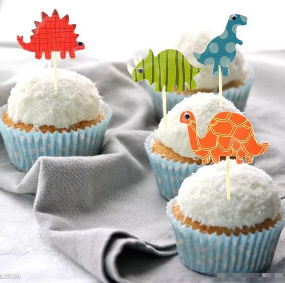 12 Pcs Dinosaurs Jurassic Park Cupcake Topper Cake Toppers Birthday