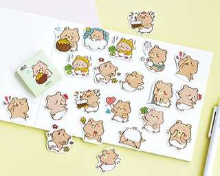 🚚 Baby Bears Scrapbook / Planner Stickers #176