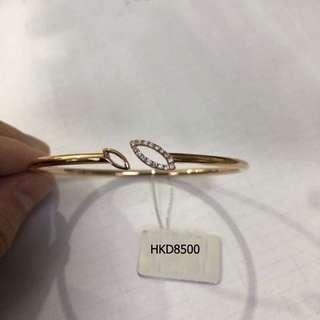 Elegant 18K solid gold  diamond bracelet