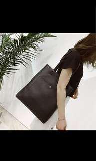 PU leather tote / shoulder bag