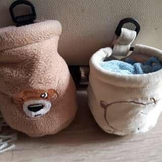 Mini woolen car garbage bag
