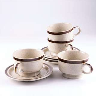 Vintage Premier Japan Speckled Cup & Saucer