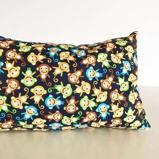 Bean Sprout Husk Pillow / Beanie Pillow , Fabric from USA ( 100% Handmade 100% Cotton , Premium Quality!) 15 x 40 cm husks 200g monkey print
