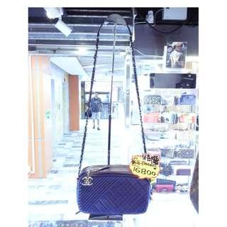 Chanel CC Logo Blue Leather Chain Shoulder Crossbody Handbag Hand Bag 香奈兒 藍色 真皮 皮革 鍊袋 肩袋 斜揹袋 斜背袋 手袋 袋