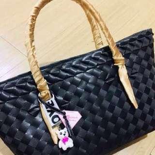 Handmade classy plastic bayong hand bag :)