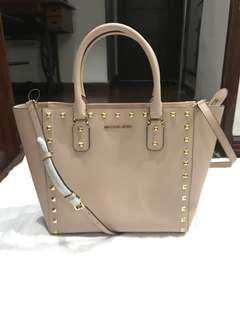 Authentic Michael Kors Studded Leather Tote