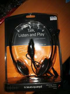 Brand New Plantronics with Noise Cancellation Headphone