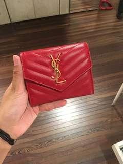 YSL Wallet 短銀包 牛皮