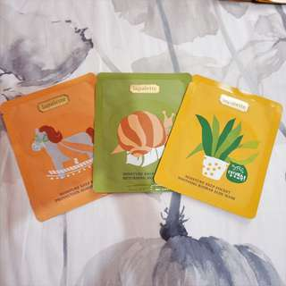 Korean Facial Sheet Masks Set D