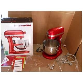 KitchenAid KSM7586P Pro Line 7-Qt Lift Stand Mixer Candy Apple Red