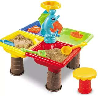*In Stock* BN Kids Square Beach Dolphin Kinetic Sand and Water Slushy Snow Play Slide Table
