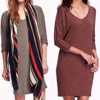 Old Navy Dress Brown/Taupe