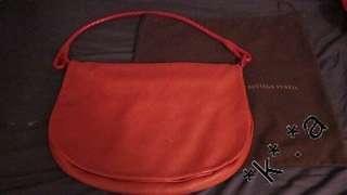 BOTTEGA VENETA 紅色 小羊皮 經典編織手袋