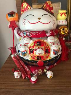 Fortune Coin Bank Japanese Cat