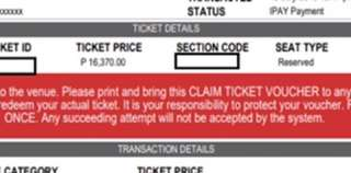 Celine Dion July 20 Lower Box B Ticket