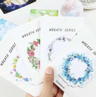 [PO][Buy 5 Get 1 Free] Flower Wreath Sticky Note