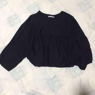 Zara TRF Black Blouse