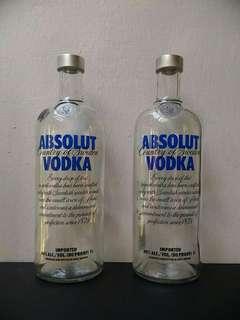 1L Absolut Vodka Empty Bottle (Original)