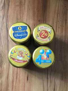 Vintage Hong Kong Disneyland anniversary containers
