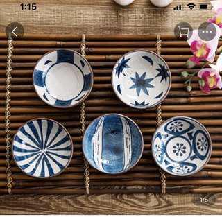 🚚 BN Oriental Saucers (set of 5)