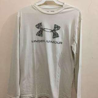 Under Armor long sleeves white and cream