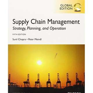 Supply Chain Management: Strategy, Planning, and Operation, 5, Pearson Prentice-Hall Publishers.