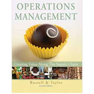 Operations Management: Creating Value along the Supply Chain, 7th Edition , John Wiley & Sons Inc.