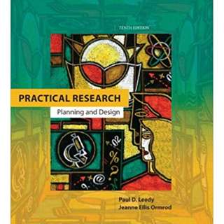 Practical Research Planning and Design, 9th Edition, PEARSON MERILL PRENTICE HALL.