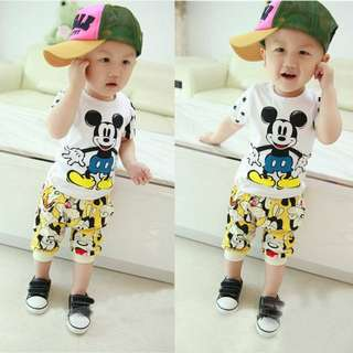 Baby Boy cutie mickey mouse t-shirt + pant set