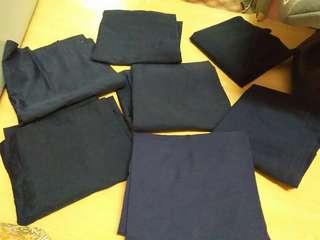 Kain sekolah rendah kain biru gelap kain pengawas