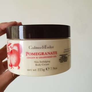 CRABTREE & EVELYN POMEGRANATE ARGAN BODY CREAM