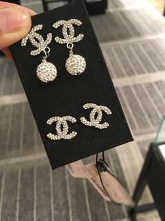 Chanel耳環 logo earrings