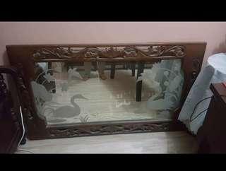Narra swan Mirror