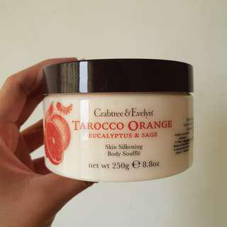 CRABTREE & EVELYN TAROCCO ORANGE BODY SOUFFLE