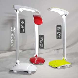 【中悅生活家具】LED 充電觸控式檯燈~有三色 附發票 台燈 桌燈 燈具 燈飾 美術燈 可充電 觸控 三段亮度
