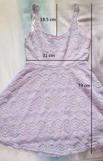 🚚 紫色吊帶蕾絲短版洋裝