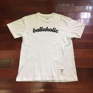 🚚 日本籃球街頭品牌 BALLAHOLIC 經典 logo t 白 棉質