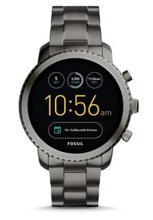 Fossil Q explorist 3rd gen smartwatch smoked stainless steel