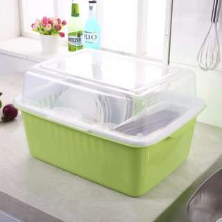 🔥Dishes Drainer with Cover Extra Large Size Kitchen Storage Rack (2KG)🔥