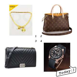 High price buy luxury brand Gold.Watch.Bag. Rolex.Chanel.LV.Omega.Hermas.Cartier.Bvlgari.