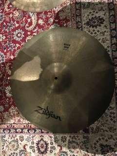 """Vintage 80s Zildjian A 20"""" Rock Ride cymbal"""